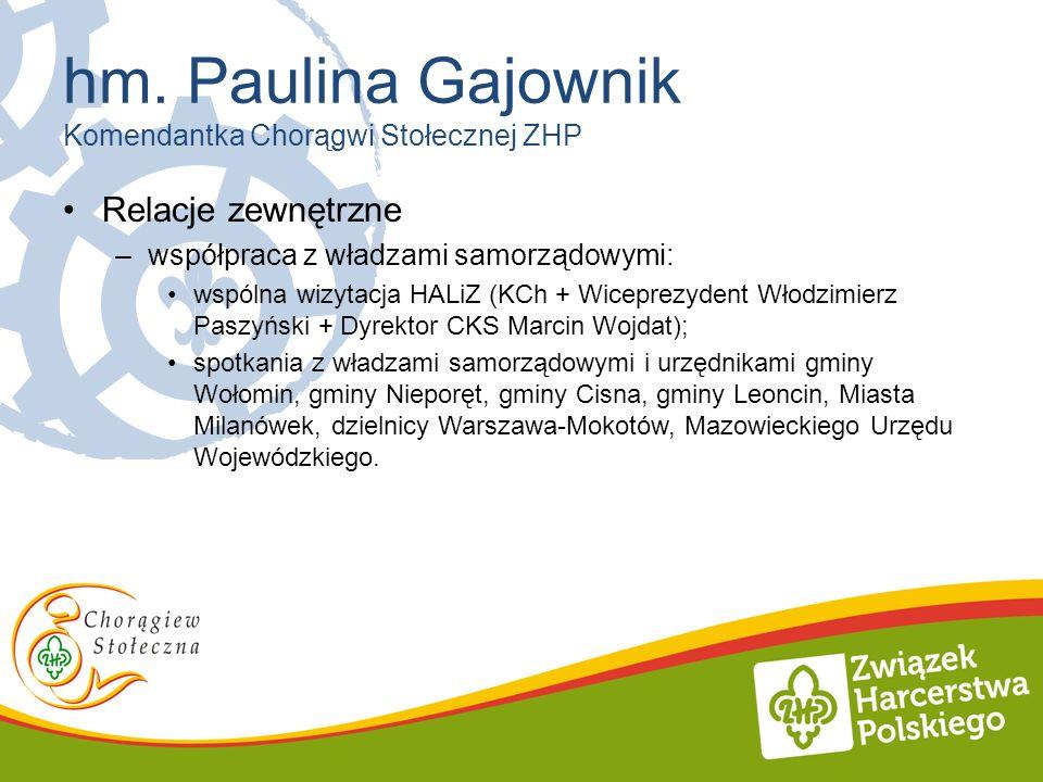 Relacje zewnętrzne –współpraca z władzami samorządowymi: wspólna wizytacja HALiZ (KCh + Wiceprezydent Włodzimierz Paszyński + Dyrektor CKS Marcin Wojd