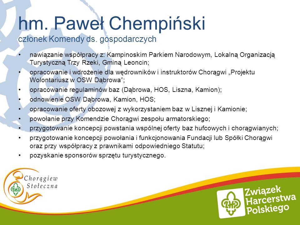 nawiązanie współpracy z: Kampinoskim Parkiem Narodowym, Lokalną Organizacją Turystyczną Trzy Rzeki, Gminą Leoncin; opracowanie i wdrożenie dla wędrown