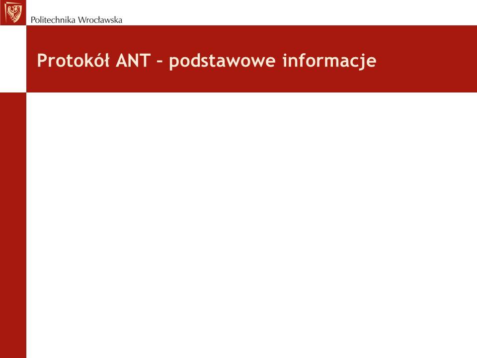 Protokół ANT – podstawowe informacje