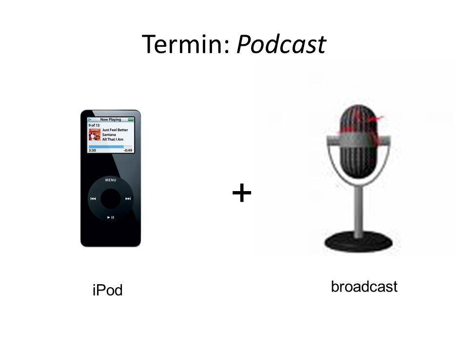 Podkast Cykliczna audycja internetowa, dostępna zwykle w formacie mp3, przygotowana do subskrybcji i zapisania na dysku użytkownika, z możliwością odtwarzania na komputerze osobistym i/lub urządzeniach przenośnych