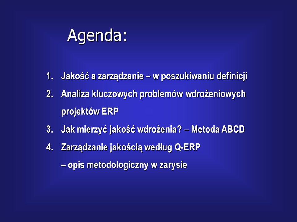 JAKOŚĆ a zarządzanie projektem ERP dr Marian Krupadr Marian Krupa