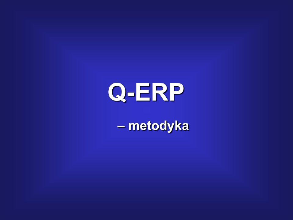 Zarządzanie jakością projektu wg Q-ERP: Technika Q-ERP – obejmuje zasady, instrumenty, narzędzia oraz metodykę monitorowania i oceny jakości realizacj