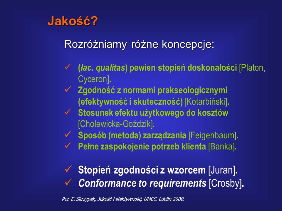 1.Jakość a zarządzanie – w poszukiwaniu definicji