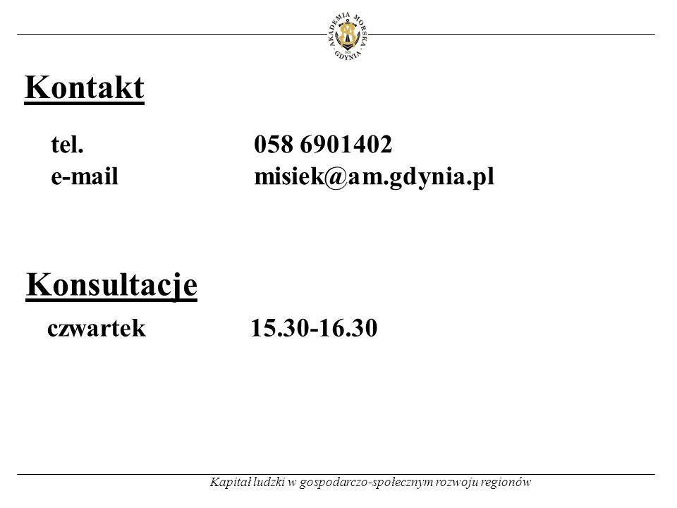 Kontakt Kapitał ludzki w gospodarczo-społecznym rozwoju regionów tel.