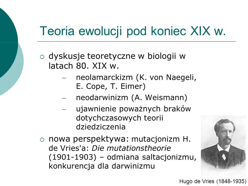 dyskusje teoretyczne w biologii w latach 80. XIX w.
