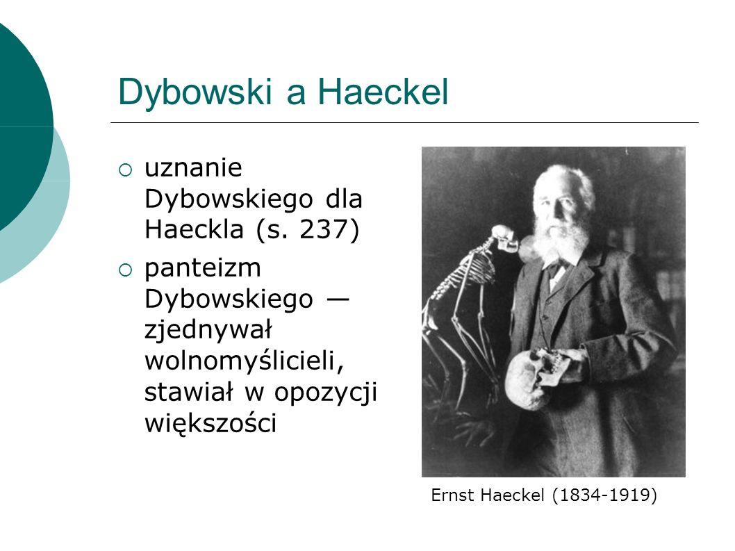 Dybowski a Haeckel uznanie Dybowskiego dla Haeckla (s.
