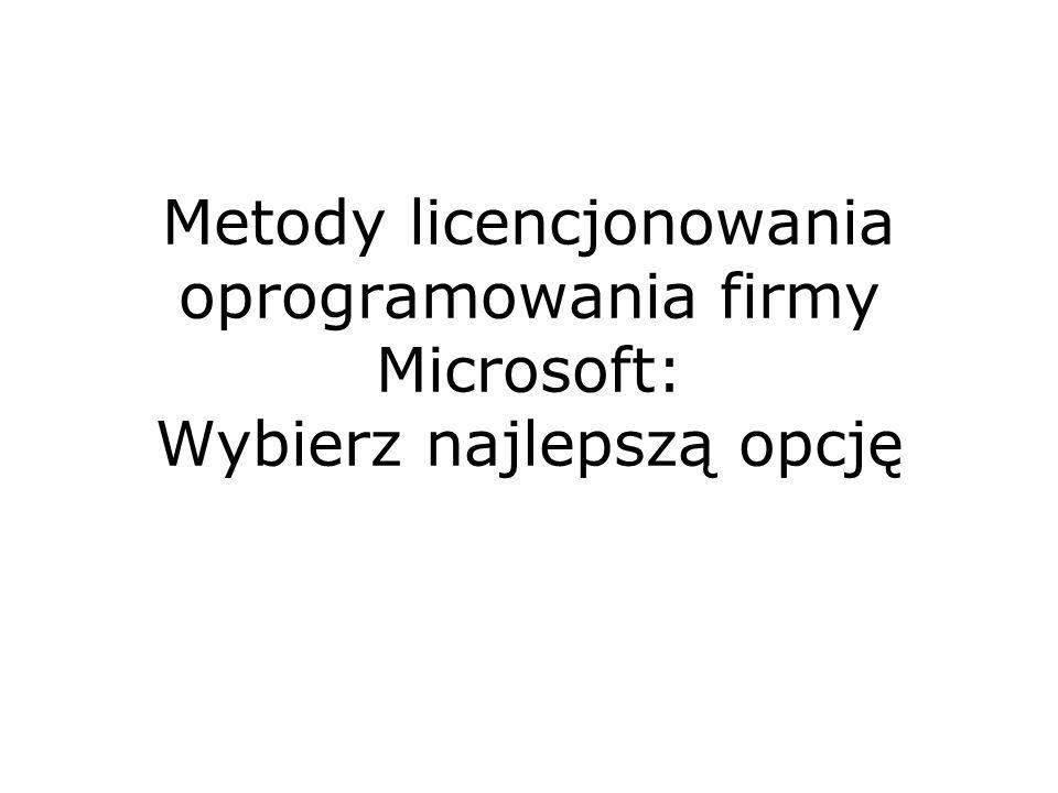 Metody licencjonowania oprogramowania firmy Microsoft: Wybierz najlepszą opcję