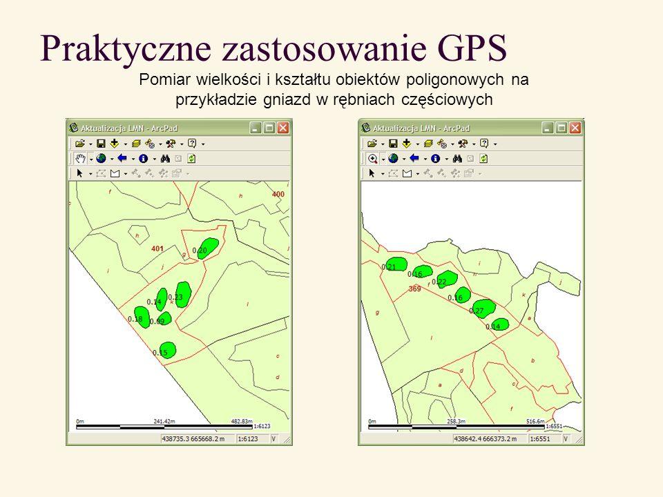 Praktyczne zastosowanie GPS Pomiar wielkości i kształtu obiektów poligonowych na przykładzie działek zrębowych (na działkach zrębowych pozostawiono otulinę zbiorników wodnych)