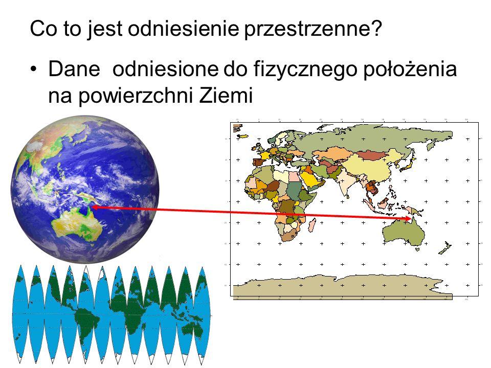 Co to jest odniesienie przestrzenne? Dane odniesione do fizycznego położenia na powierzchni Ziemi