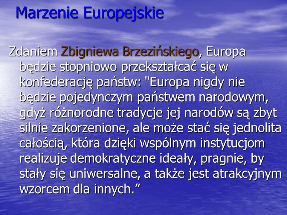 Marzenie Europejskie Zdaniem Zbigniewa Brzezińskiego, Europa będzie stopniowo przekształcać się w konfederację państw: