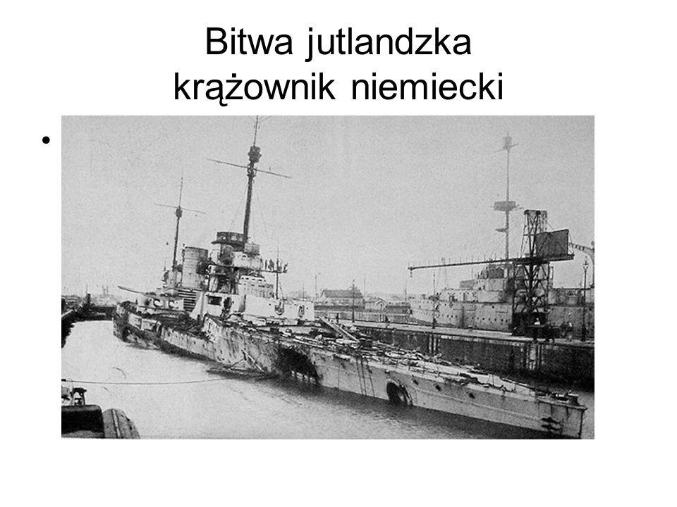 Bitwa jutlandzka krążownik niemiecki Niemiecki krazownik