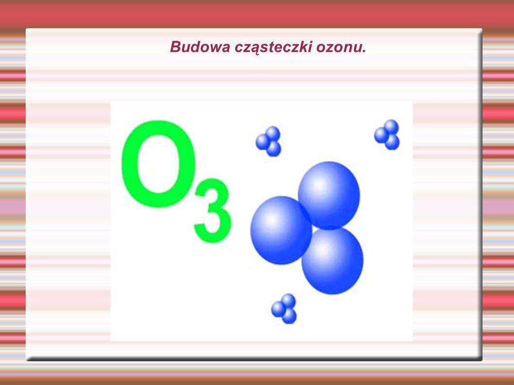 Budowa cząsteczki ozonu.