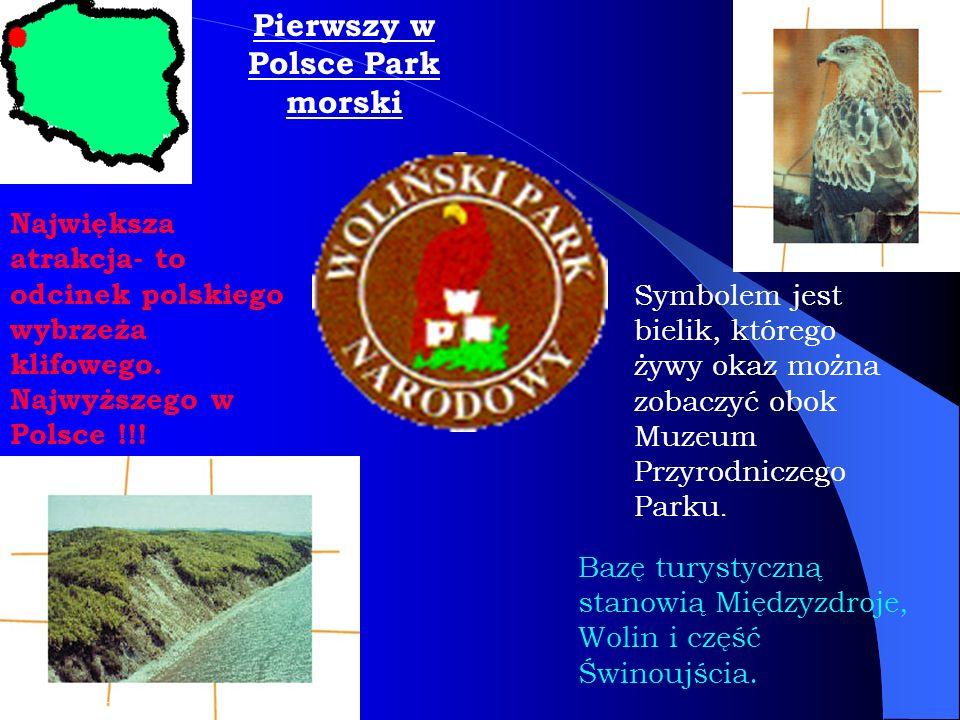 Pierwszy w Polsce Park morski Symbolem jest bielik, którego żywy okaz można zobaczyć obok Muzeum Przyrodniczego Parku. Największa atrakcja- to odcinek