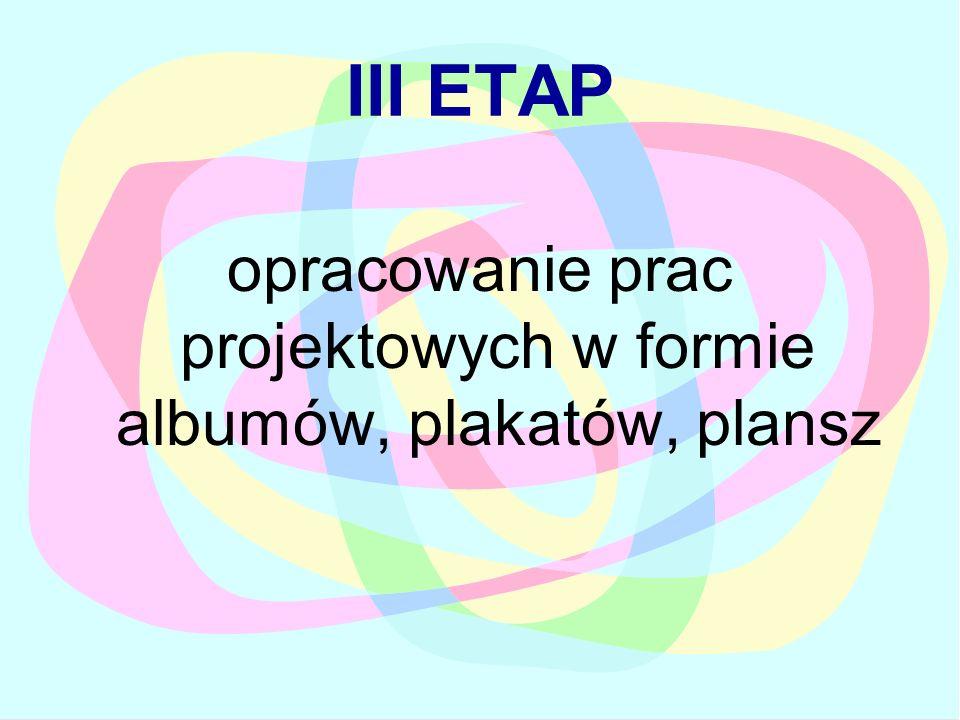 III ETAP opracowanie prac projektowych w formie albumów, plakatów, plansz