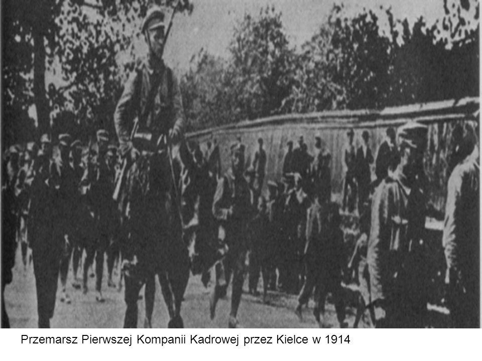 Przemarsz Pierwszej Kompanii Kadrowej przez Kielce w 1914