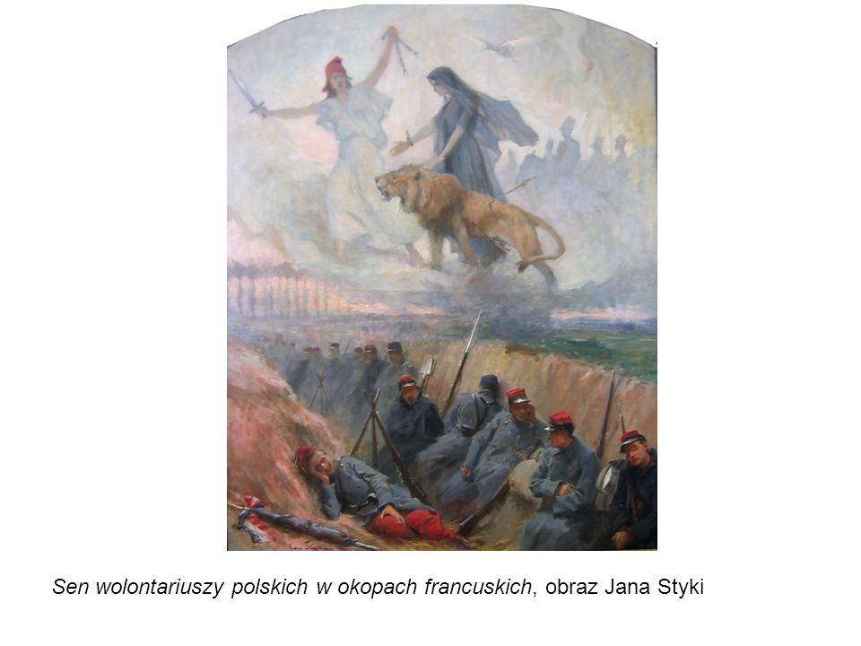 Sen wolontariuszy polskich w okopach francuskich, obraz Jana Styki
