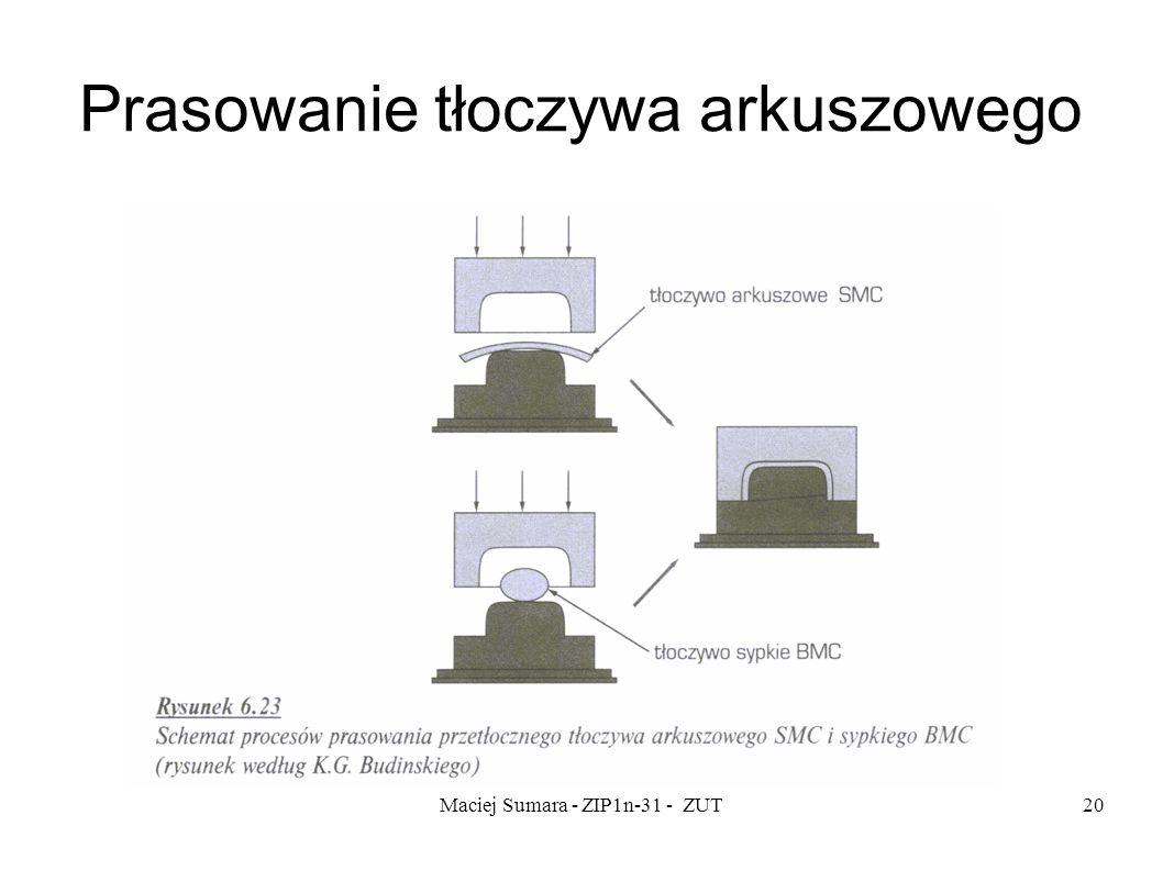 Maciej Sumara - ZIP1n-31 - ZUT20 Prasowanie tłoczywa arkuszowego