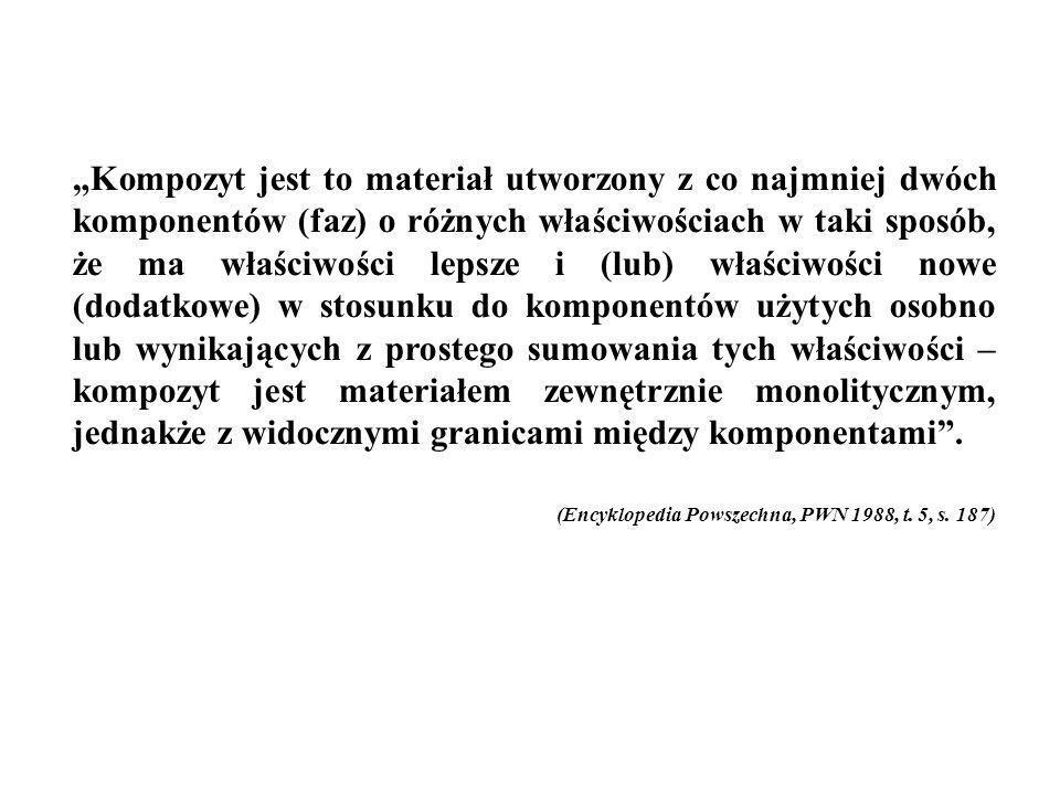 1.Kompozyt jest materiałem wytworzonym przez człowieka 2.