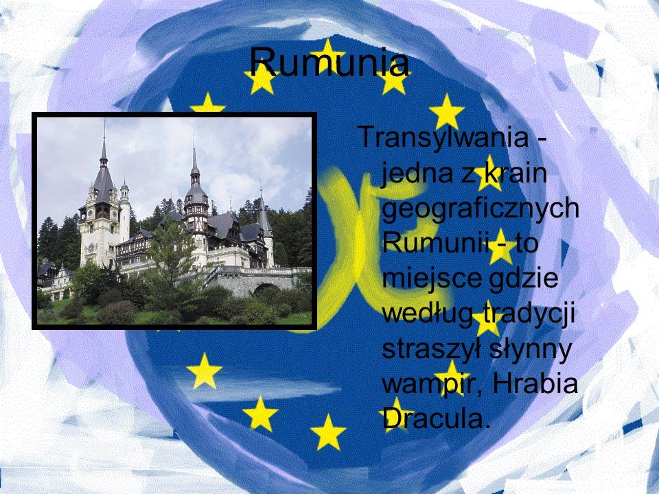 Rumunia Transylwania - jedna z krain geograficznych Rumunii - to miejsce gdzie według tradycji straszył słynny wampir, Hrabia Dracula.