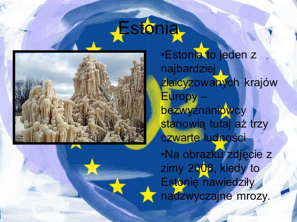 Estonia Estonia to jeden z najbardziej zlaicyzowanych krajów Europy – bezwyznaniowcy stanowią tutaj aż trzy czwarte ludności Na obrazku zdjęcie z zimy