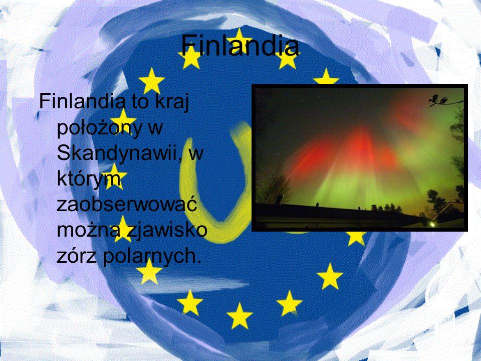 Finlandia Finlandia to kraj położony w Skandynawii, w którym zaobserwować można zjawisko zórz polarnych.