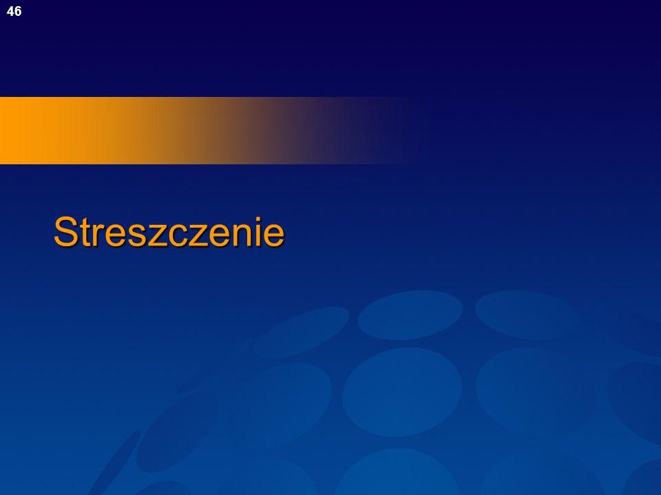 47Streszczenie Holistyczne spojrzenie na zabezpieczenia łączy perspektywę ludzką, procesów i technologii oraz wymaga ciągłych badań i kształcenia Cele zabezpieczeń są sprzeczne z celami określanymi przez funkcjonalność Koszt ochrony jest czynnikiem wymuszającym konieczność przeprowadzenia oszacowania ryzyka Procesy takie jak OCTAVE umożliwiają identyfikowanie zagrożeń oraz przygotowanie analizy oszczędności Mniejsze wymagania dotyczące zabezpieczeń można zaspokoić tańszymi, reaktywnymi podejściami Wysokie wymagania dotyczące zabezpieczeń wymagają droższych, formalnych metod