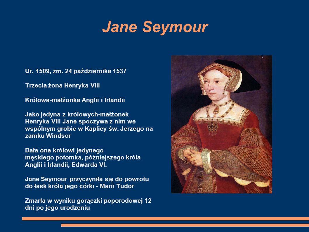 Anna Boleyn Ur. 1501/1507, zm. 19 maja 1536 w Londynie Druga żona Henryka VIII Dama dworu pierwszej żony Henryka VIII, Katarzyny Aragońskiej Matka póź