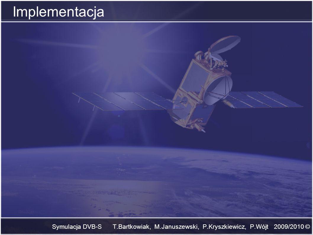 Symulacja DVB-S T.Bartkowiak, M.Januszewski, P.Kryszkiewicz, P.Wójt 2009/2010 © Implementacja