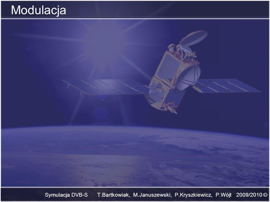 Symulacja DVB-S T.Bartkowiak, M.Januszewski, P.Kryszkiewicz, P.Wójt 2009/2010 © Modulacja