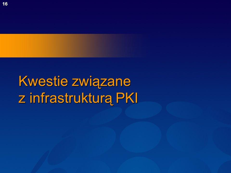 16 Kwestie związane z infrastrukturą PKI