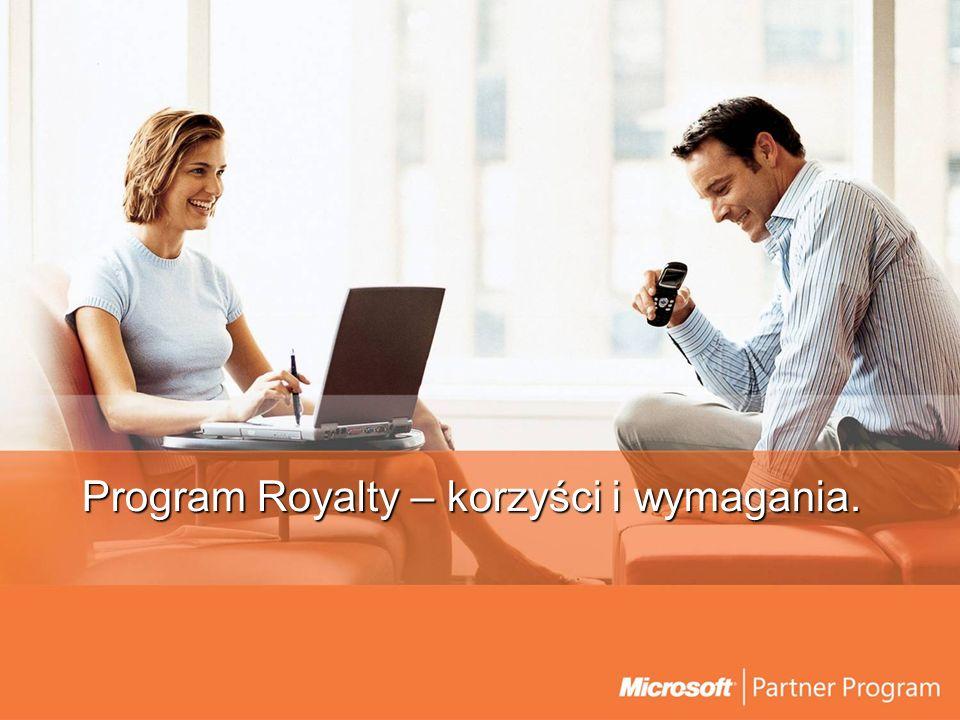 Program Royalty Adresaci Producenci oprogramowania (ISV), wykorzystujący w swoich rozwiązaniach platformę Microsoft