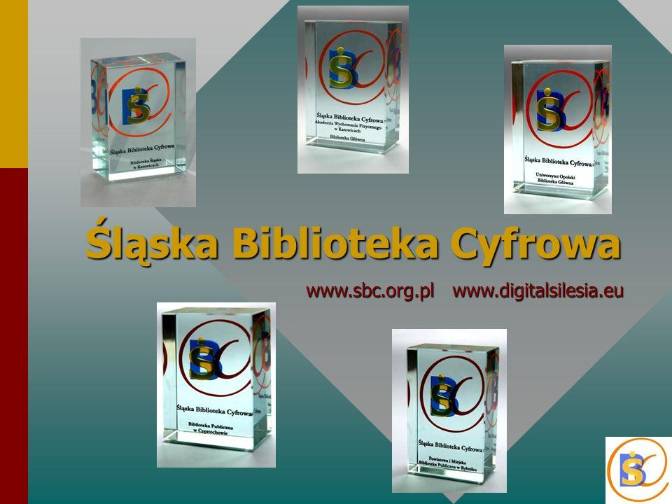 ŚBC jest cyfrową platformą (oprogramowanie dLibra - PCSS), która umożliwia planowanie, gromadzenie, opracowanie i prezentację elektronicznych publikacji, przygotowywanych przez kilkudziesięciu redaktorów w 30 instytucjach współtworzących jej zasób oraz udostępnia je nieodpłatnie użytkownikom internetu w polskim systemie 17 zsynchronizowanych bibliotek cyfrowych ŚBC jest cyfrową platformą (oprogramowanie dLibra - PCSS), która umożliwia planowanie, gromadzenie, opracowanie i prezentację elektronicznych publikacji, przygotowywanych przez kilkudziesięciu redaktorów w 30 instytucjach współtworzących jej zasób oraz udostępnia je nieodpłatnie użytkownikom internetu w polskim systemie 17 zsynchronizowanych bibliotek cyfrowych Celem utworzenia ŚBC jest prezentacja w internecie kulturowego dziedzictwa Śląska w jego historycznej i współczesnej różnorodności, publikowanie naukowego dorobku regionu oraz wspieranie działalności dydaktycznej i edukacyjnej