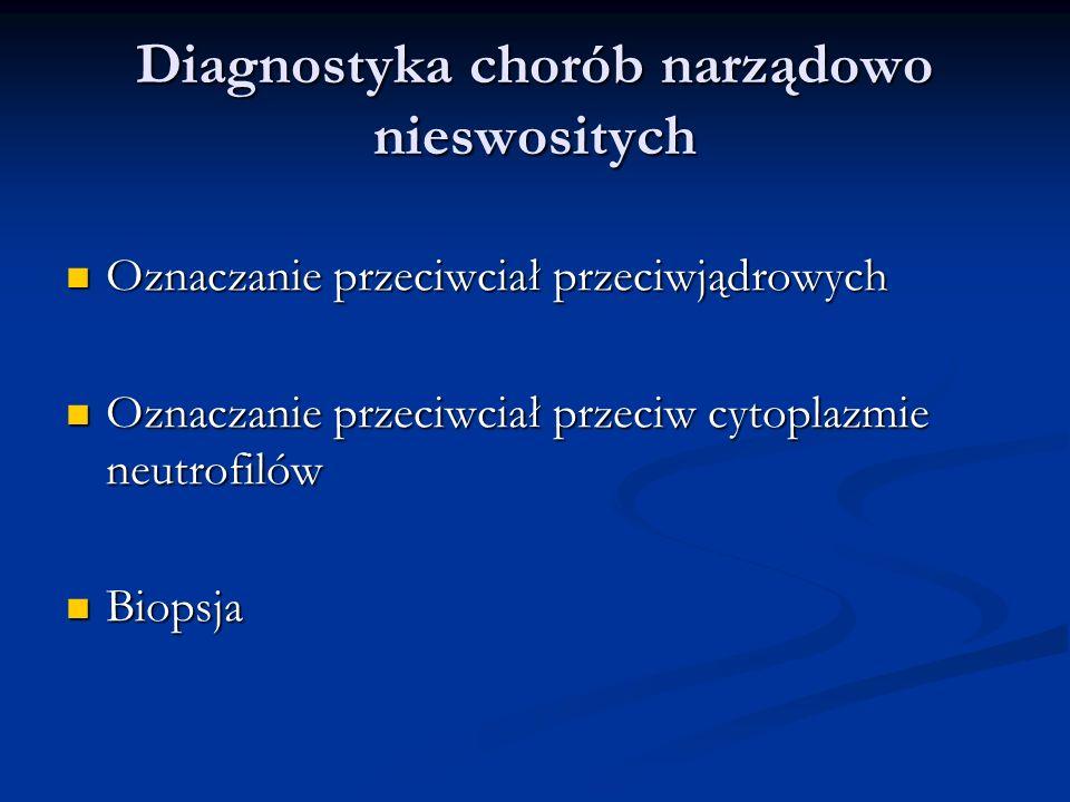 Przeciw tyreoperoksydazie Odpowiadają kiedyś oznaczanym antymikrosmalnym Odpowiadają kiedyś oznaczanym antymikrosmalnym Rozpoznanie autoimmunologicznego podłoża niedoczynności tarczycy (98%) Rozpoznanie autoimmunologicznego podłoża niedoczynności tarczycy (98%) Zapalenie autoimmunologiczne tarczycy przebiegające z eutyreozą Zapalenie autoimmunologiczne tarczycy przebiegające z eutyreozą Uwaga: też dodatnie w ch.