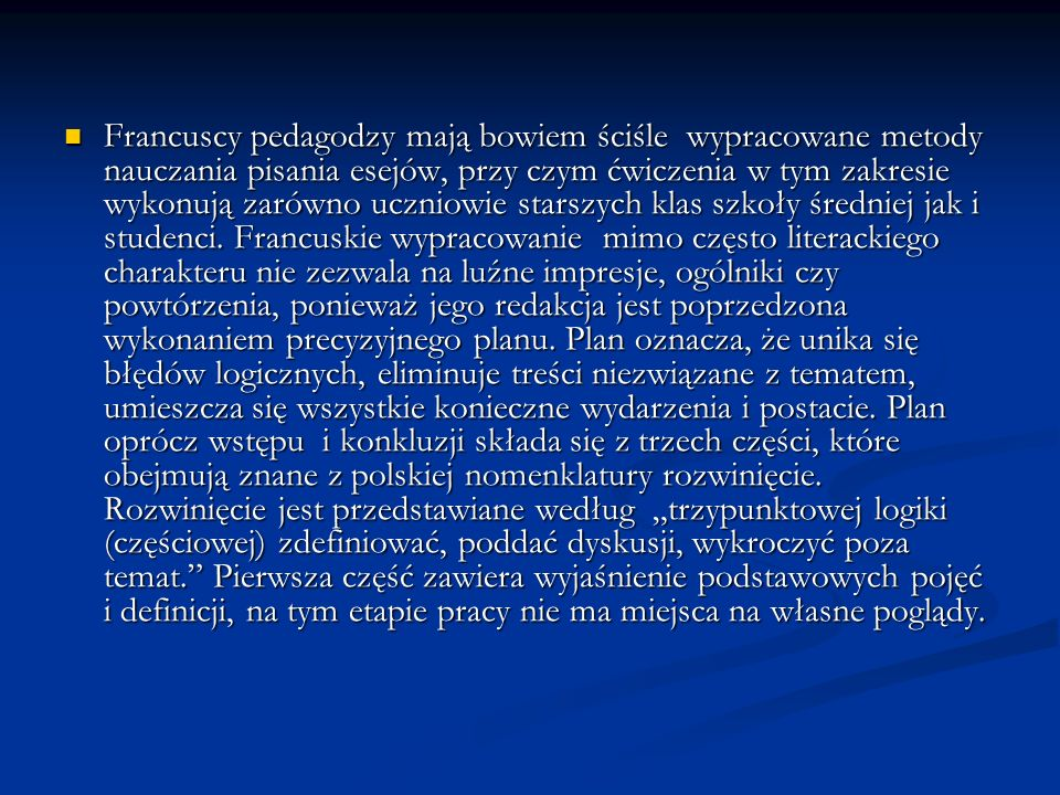 Koniecznie podać uczniom po dwie lub trzy pozycje najwybitniejszych autorów sztandarowe dla danej epoki zarówno w zakresie historii Polski jak i powszechnej.