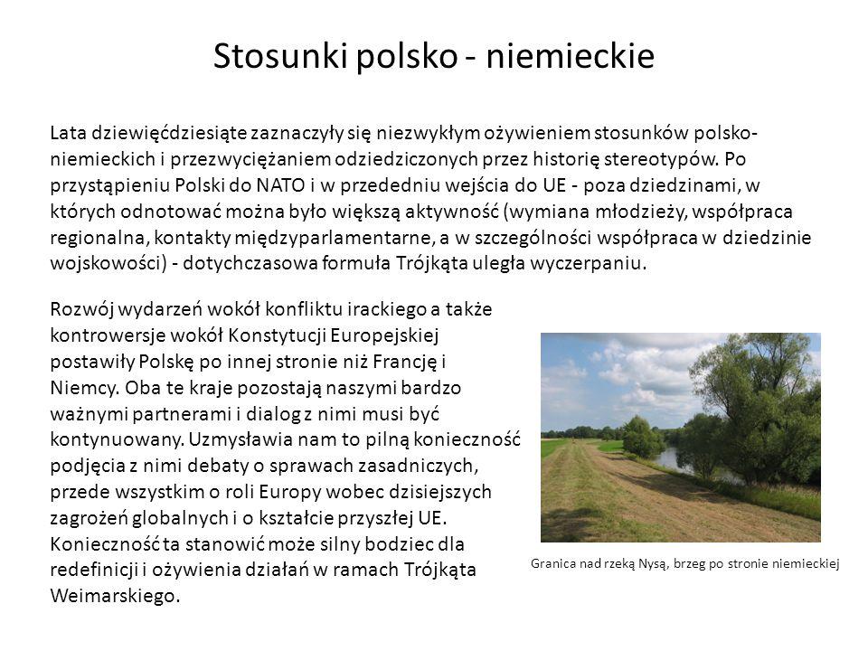 Stosunki polsko - niemieckie Od 1989 roku rozwijają się polsko – niemieckie stosunki gospodarcze.