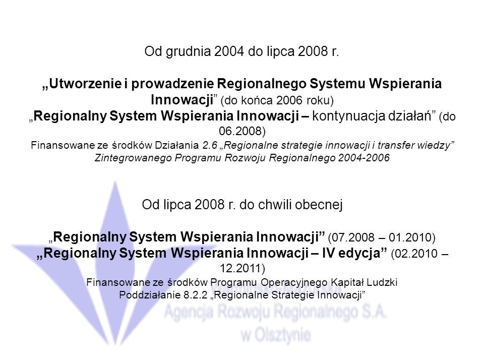 Od grudnia 2004 do lipca 2008 r.
