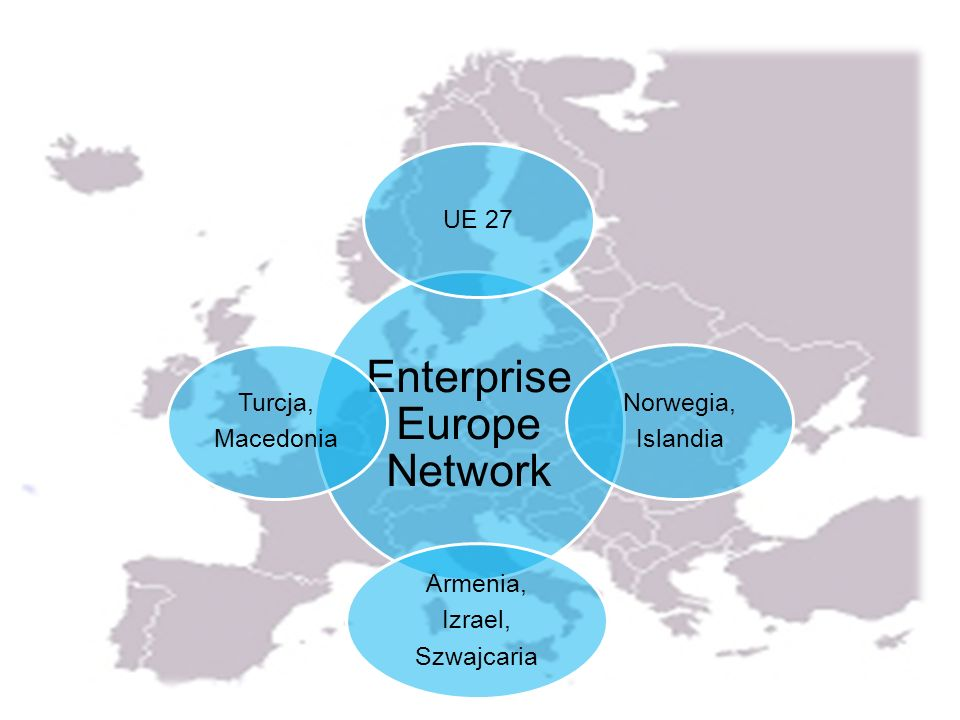 Enterprise Europe Network UE 27 Norwegia, Islandia Armenia, Izrael, Szwajcaria Turcja, Macedonia