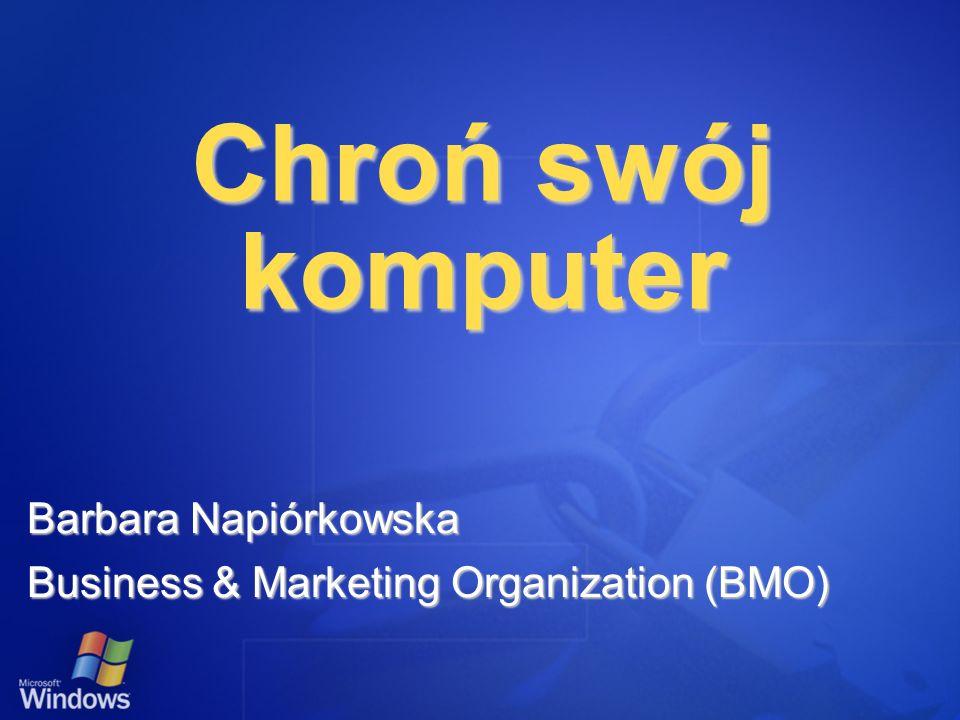 Chroń swój komputer Paweł Jeżowski IT Audience Marketing Manager Andrzej Zaremba Security Program Manager Microsoft
