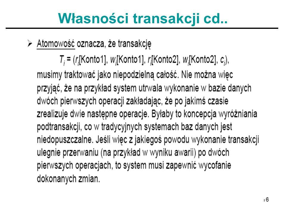 16 Własności transakcji cd..