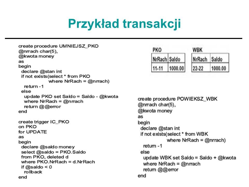 20 Własności transakcji cd..