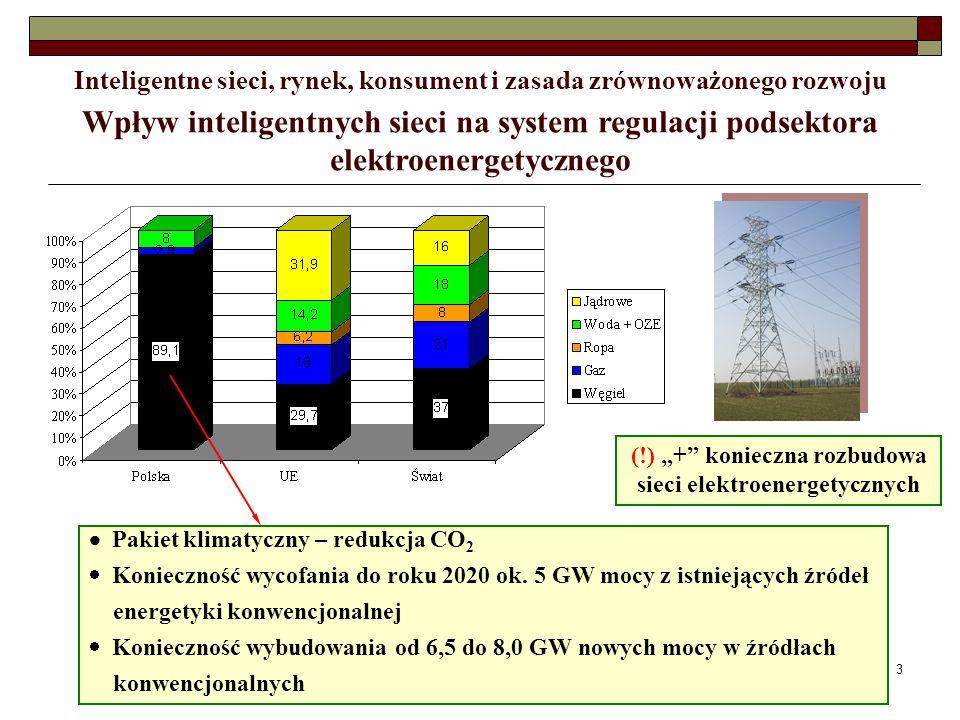 4 Wpływ inteligentnych sieci na system regulacji podsektora elektroenergetycznego Inteligentne sieci, rynek, konsument i zasada zrównoważonego rozwoju E-Energy Poprawa świadomości użytkowania energii, efektywność przepływów energii w sieci, integracja OZE, obniżenie kosztów energii Modyfikacja rozwiązań taryfowych Inteligentny pomiar energii Prosument Zmiany rynku energii elektrycznej w Polsce: - od pasywnych do aktywnych transakcji na rynku -