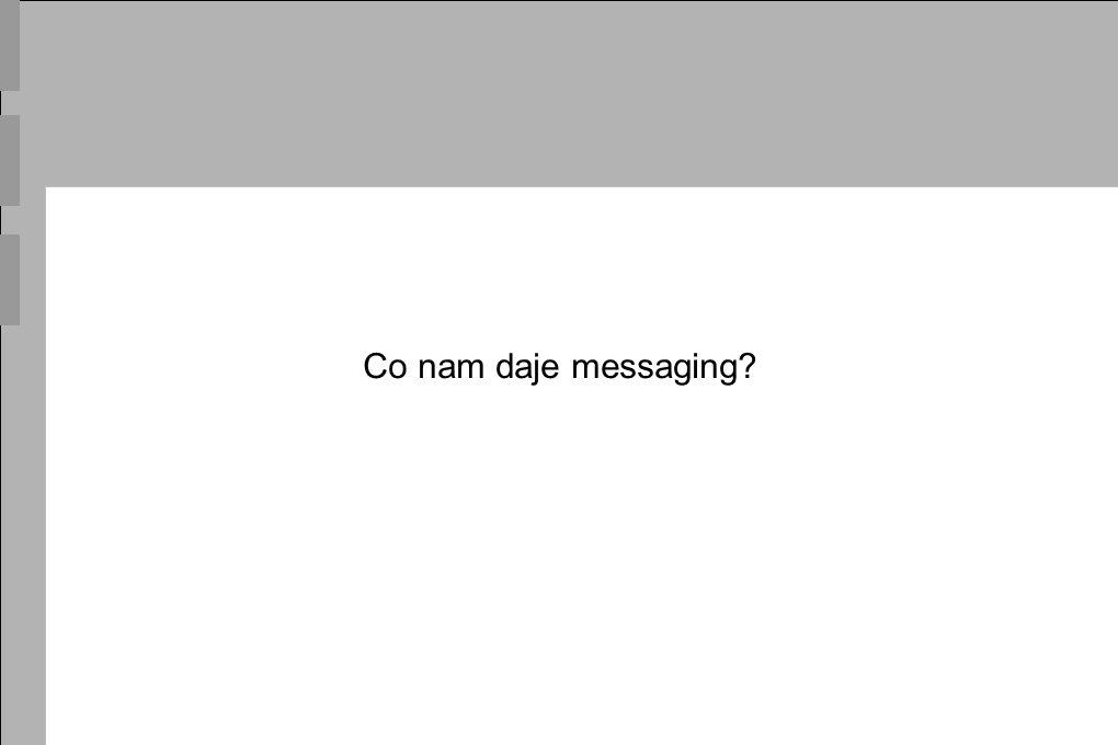 Co nam daje messaging?