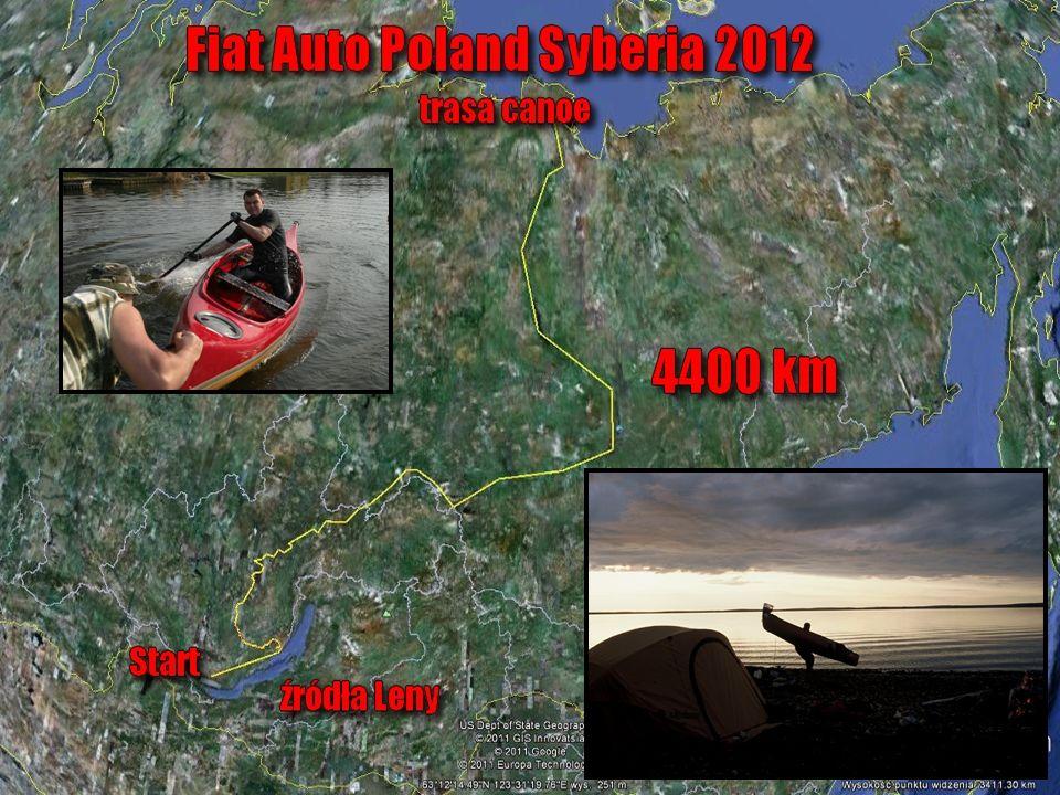 Fiat Adventure Team-Syberia 2012 Plan założenia ekspedycji-rozmieszczenie w czasie Wyprawa Marcina Gienieczko Start wyprawy 4 maja 2012 r.