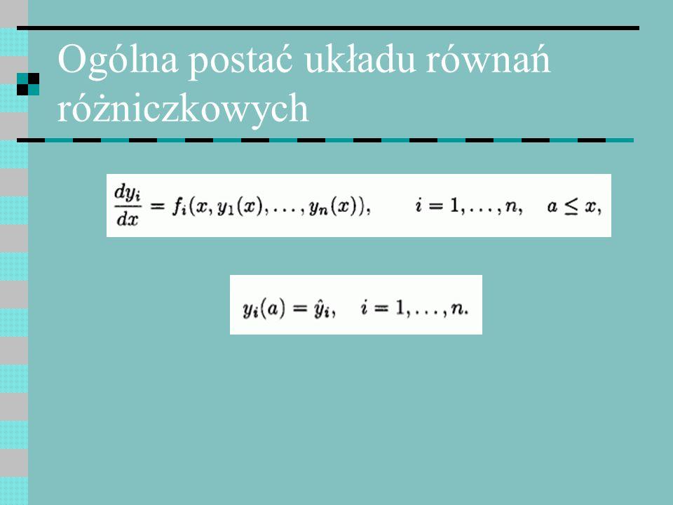 Formułowania ODE - przykład Sposób postępowania jest analogiczny, jednak całkowanie symboliczne, w zależności od zależności siły ciągu i masy od czasu może być skomplikowane