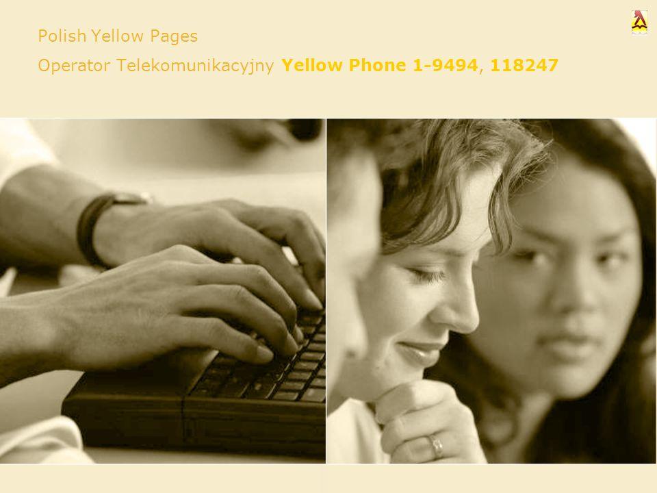Polish Yellow Pages Operator Telekomunikacyjny Yellow Phone 1-9494, 118247