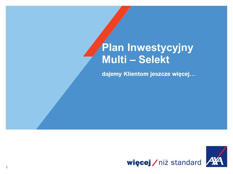 Plan Inwestycyjny Multi / Multi Prestiż Ogólna zasada funkcjonowania konta podstawowego PREMIA w zależności od WARIANTU 12345678910111213141516171819202122232425 SU=100zł, za ryzyko ubezpieczeniowe za zarządzanie za administrowanie obowiązek inwestycji regularnej przez 10 lat
