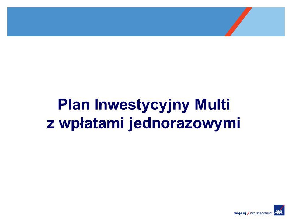 Plan Inwestycyjny Multi z wpłatami jednorazowymi