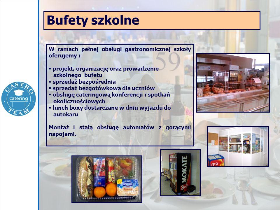 W ramach pełnej obsługi gastronomicznej szkoły oferujemy : projekt, organizację oraz prowadzenie szkolnego bufetu sprzedaż bezpośrednia sprzedaż bezgo