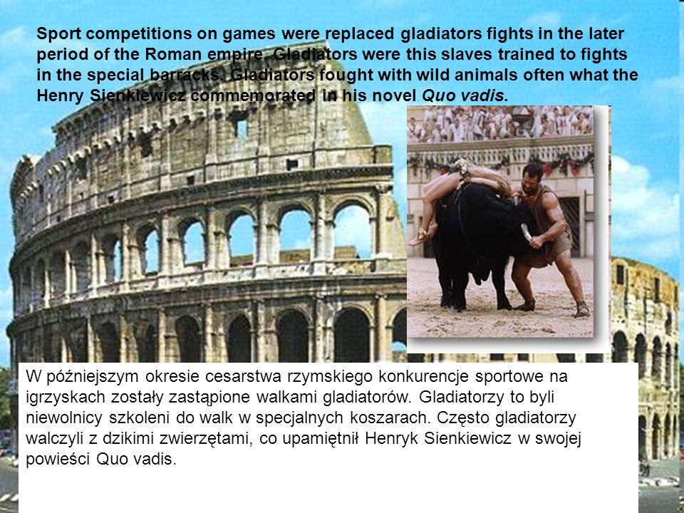 Trudno wyobrazić sobie starożytny Rzym bez krwawych i emocjonujących walk gladiatorów.