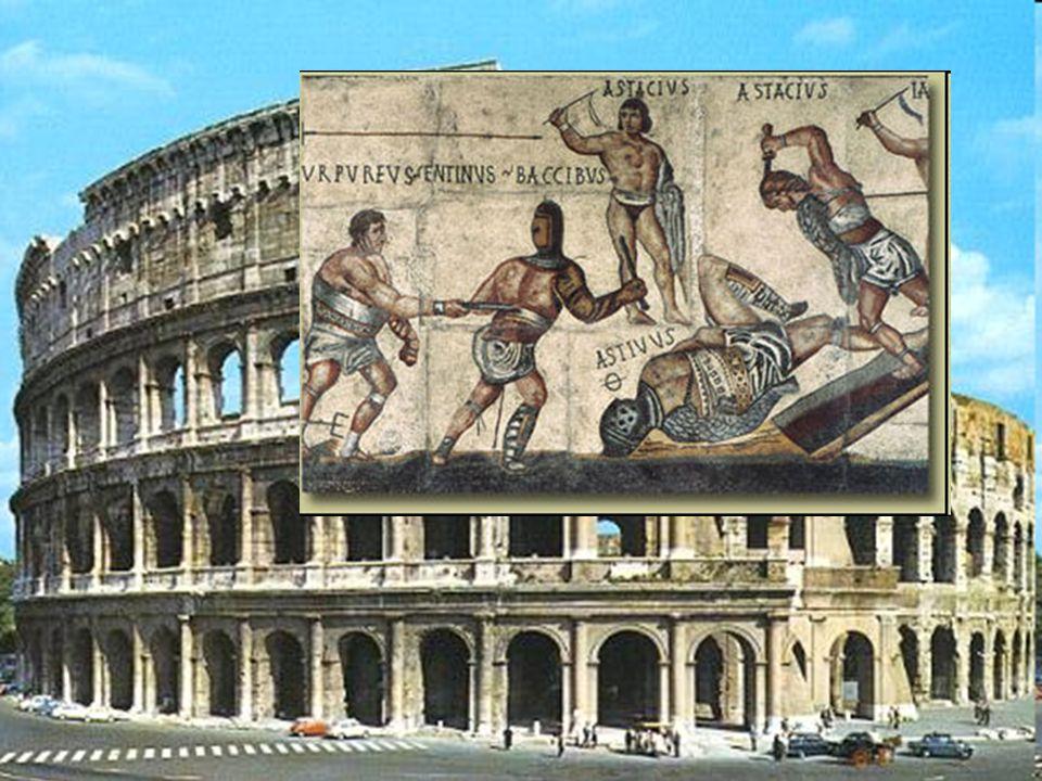 Walki gladiatorów, stały się rozrywką w czasach, kiedy w Italii pojawiło się więcej niewolników.